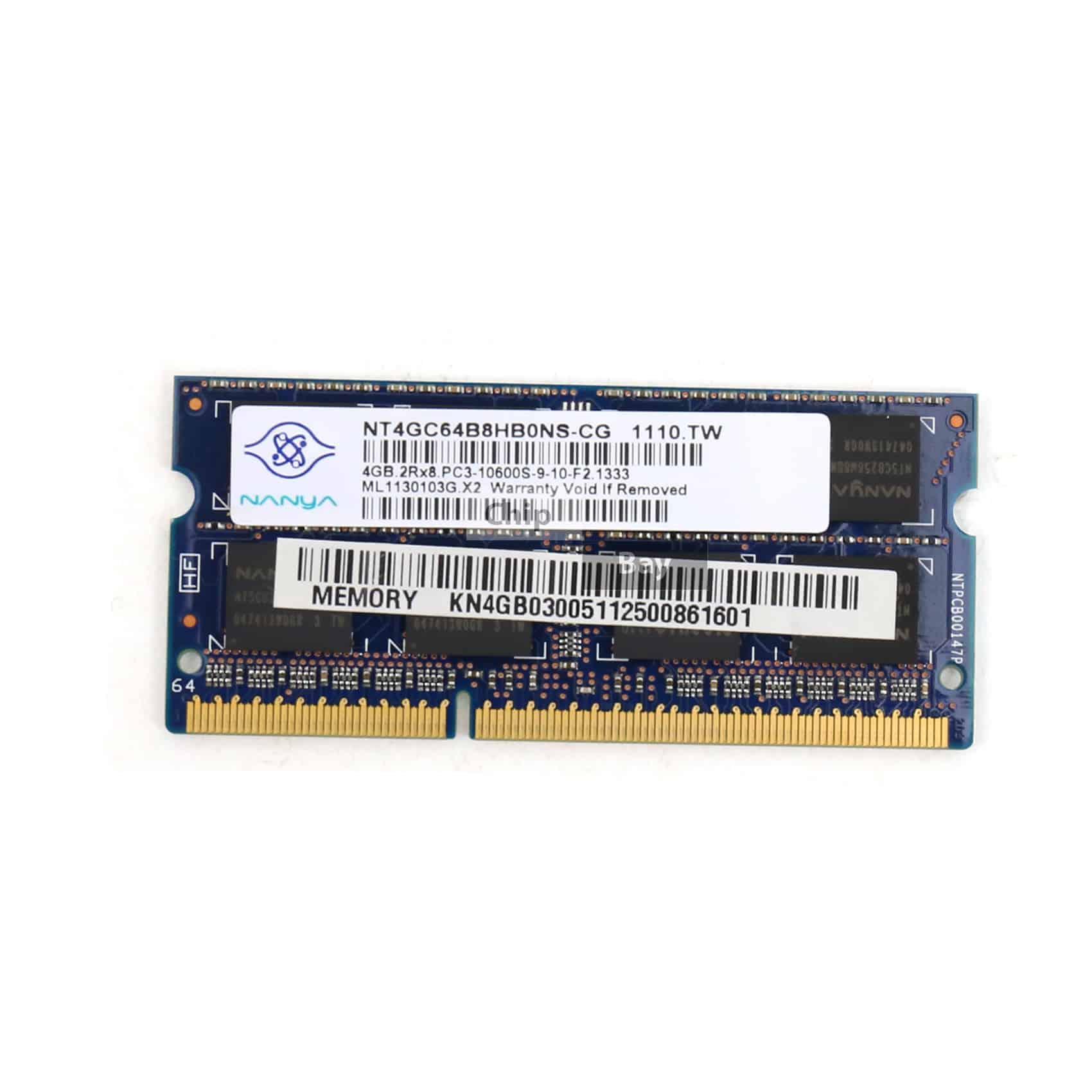 Nanya Ddr3 4gb 2rx8 Pc3 10600s Laptop Ram Memory Module